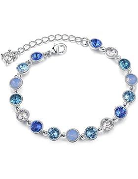 STAR SANDS Sternenklarer Himmel Kristall-Armband Hergestellt mit 17pcs runde geformte Kristalle von Swarovski...