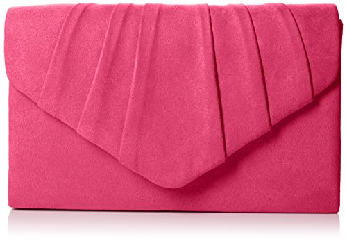 Swankyswans Damen Iggy Suede Velvet Envelope Party Prom Clutch Bag Tasche, Pink (Fuschia 03), One Size -