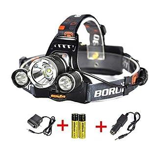 LED Stirnlampe Scheinwerfer Wiederaufladbare Scheinwerfer mit 4 Modi LED Focus Wasserdicht Scheinwerfer für Wandern Camping Jagen Klettern Radfahren Angeln Outdoor Light