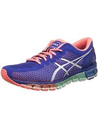 ASICS Women's Gel-Quantum 360 2 ASICS Blue, White And Flash Coral Running Shoes -9 UK/India (43.5 EU)(11 US)