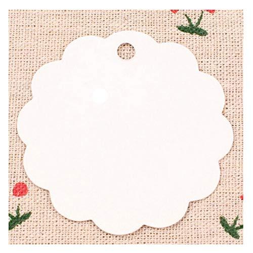 Youkara etichetta per il giardinaggio dei fiori etichette di carta targhette per regali cartellini per matrimonio cuore cartellini matrimonio etichette vuote 3.6 * 2.5cm 100pcs
