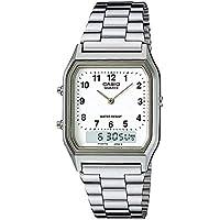 Casio Collection, AQ-230A-7BMQYES, Reloj Unisex, Plateado, Blanco