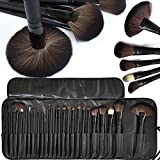 Allin Exporters 24 Pieces Professional Makeup Brush Set With Travel And Carry Case Black