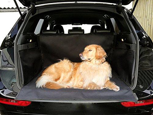 Universeller wasserfester Kofferraumschutz von autooptimierer.de – Kofferraumdecke für Hunde – Autoschondecke Kofferraum Abdeckung mit Klett – Hundedecke Auto universal (Größe 170 x 155 cm, schwarz)