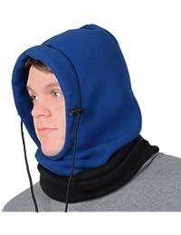 Adults 6 In 1 Polar Fleece Hood Snood Balaclava Winter Warmer Ski Hat Scarf Mask