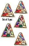 #5: A'SHOP Designer Wooden Triangular Button ( Set Of 5 )