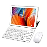 YOTOPT Tablette Tactile 10 Pouces 4G LTE, Android 9.0 Certifié par Google GMS Tablette 64Go, 4Go de RAM, Bluetooth, GPS, WiFi, Type-c (Or)