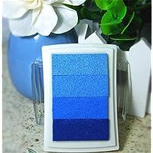 Linhome-Aceite Almohadilla de Tinta para la Madera de Papel Sello de Goma ,azul