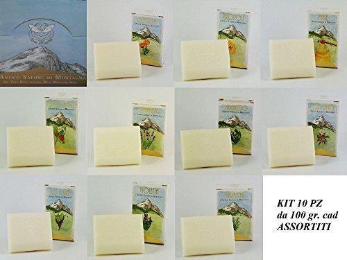Saponette profumate naturali artigianali 100% vegetali no coloranti kit 10 pz assortiti