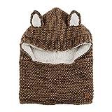 Chillouts Danny Kid Hat Kinder Mütze in der Farbe Schalmütze mit Ohren (Braun Melange)