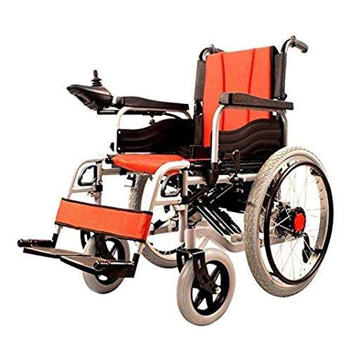 WENZHEN Elektrischer Rollstuhl,Foldable Power Wheelchair (Li-Ion Battery), Drive with Electric Power Or Use As Manual Wheelchair,Lightweight Mobility Device for Elderly -