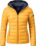 Marikoo Damen Winter-Jacke Steppjacke Lucy Gelb Gr. XL
