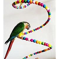 LA VIE Escalera Espiral Colorida para Pájaros Escalera de Escalar Columpio de Loros Percas de Pájaros Pet Bird Parrot Toy Swing Accesorios de Jaula para Pájaros como Loros Pericos Periquitos Canarios 80cm
