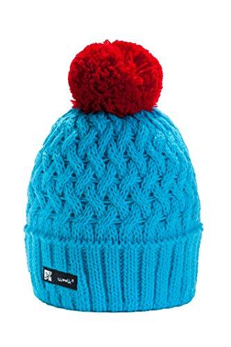 Wurm Winter Cookies Style Beanie Mütze mit Ponpon Damen Herren HAT HATS SKI Snowboard Morefazltd (TM), Blue, Regular