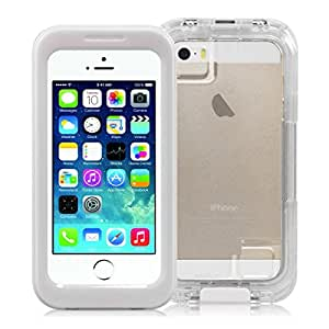 Barrier® WaterproofTransparent Silicone Screen Protector Carrying Cover Case for iPhone4 , iPhone 4s , iPhone5 , iPhone5c , iPhone 5s ( WHITE )