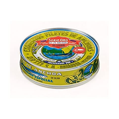 Anchovy fillets in olive oil 450g Ortiz Serie Oro (67-75 units) selected by Zapore Jai