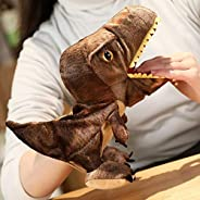 Dinosaur Hand Puppet Plush Toy Can Open Mouth Parent-Child Interactive Toy Education Toys (Color : -, Size : -