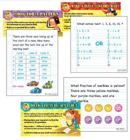 Bulletin Board Math Problem-Solving Strategies by Edupress (Bulletin Math Board)