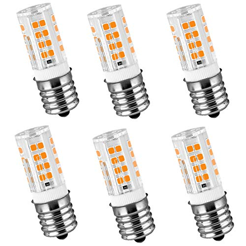 LeMeng - Lampadina LED G9, 4 W, equivalente a 40 W, 400 lm, bianco 2700 K AC 120 V Bi-Pin G9 base alogena LED, non dimmerabile, confezione da 6, 2700k Warm White, E17, 4.00W 120.0V