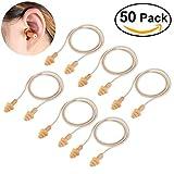 WINOMO 50 Pares Tapones Oídos con Cordón Tapones para los Oídos blandos de silicona reutilizable para dormir oyendo protección piscina