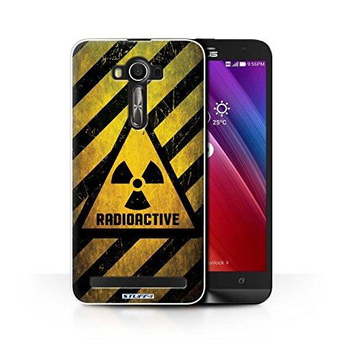 Custodia/Cover/Caso/Cassa Rigide/Prottetiva STUFF4 stampata con il disegno Segnali di avvertimento di pericolo per Asus Zenfone 2 Laser ZE601KL - Radiazione