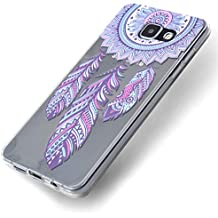 Funda Samsung Galaxy A5 2016, Carcasa Samsung A510 Teléfono Caso Cubrir Transparente, Ultrafina Rigida Anti-rasguñe Anti Choques Anti-Arañazos Funda, Patrón de Campánula Piel Protectora Shell TPU Gel Silicona para Samsung Galaxy A5(2016)