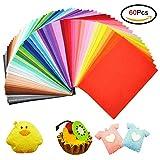 Jingxu Bunter Filzstoff 60 Farben Bunte Filzplatten 20 x