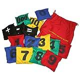 Bohnensäckchen mit Zahlen Wurfsäckchen Konzentrationskissen Wurfspiel 15 Stück