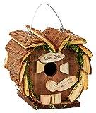 Lifetime Garden Love Birds Vogelhaus | dekoratives Vogelhäuschen für die kalte Jahreszeit | aus echtem Holz 14x16x14 cm | Nistkasten inkl. Metallring zum Aufhängen