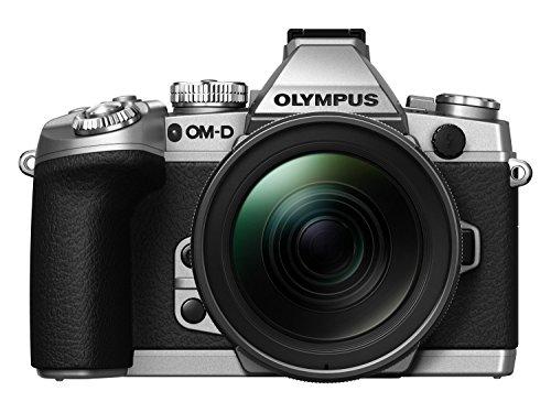 Olympus E-M1 OM-D Systemkamera (16 Megapixel, 7,6 cm (3 Zoll) TFT LCD-Display, Full HD, HDR, 5-Achsen Bildstabilisator) inkl. M.Zuiko Digital ED 12-40mm Top Pro Objekitv Kit silber