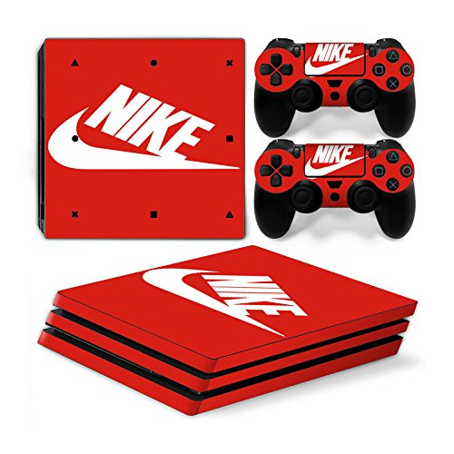 Funky Planet Playstation 4 Pro PS4 PRO Adesivi per pelli in PVC per console e pastiglie - Ridimensionare il tuo PS4 Pro (Nike)