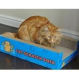 Cat Scratch Sofa Lounge including free cat-nip - Cardboard Scratcher Post