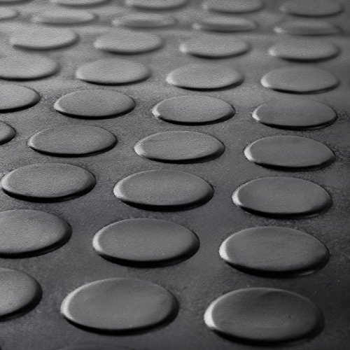 casa pura® Coin Non-Slip Rubber Stair Treads - Weatherproof - Set of 5 - 25x75x1.4 cm