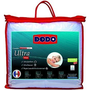 Dodo Maxiconfort Ultra Couette Unie Blanc 200 x 140 cm Chaude Synthétique