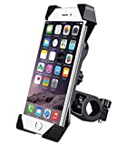 #7: higadget Universal Bike Phone Mount with Anti Shake and Stable Cradle Clamp with 360° Rotation, Bicycle Motorcycle Bike Mobile Holder for All Size Mobile Phones