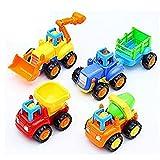 #2: Bighub Unbreakable Construction Trucks Toy Set ( Set of 4 )