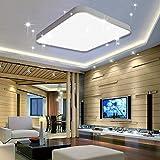 VINGO® 50W LED Deckenleuchte kaltWeiß Sternenhimmel Wohnzimmerlampe Küchenleuchte Deckenbeleuchtung Panel Lüster Ultraslim Schlafzimmer Esszimmer energiesparend