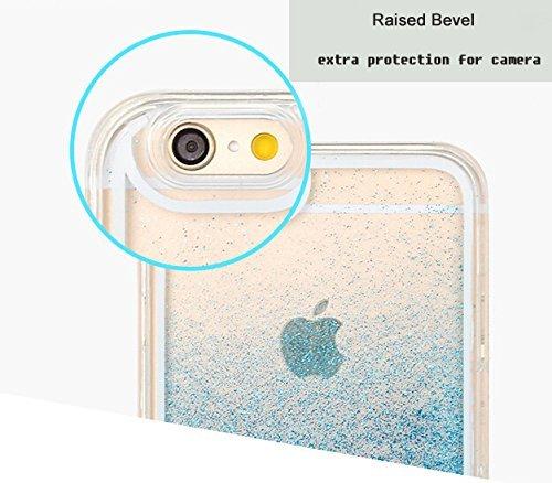 Coque iPhone 6S, Coque iPhone 6, Aprtwin® Fashion Style Coque, Creative 3D Flow Liquid Infused with Glitter and Stars Etui Housse Téléphone Couverture de Hard Plastique Coque pour iPhone 6/6S (4.7 Pou Star/Pink