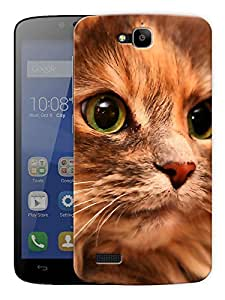 "Humor Gang Cat Eyes Printed Designer Mobile Back Cover For ""Huawei Honor Holly"" (3D, Matte Finish, Premium Quality, Protective Snap On Slim Hard Phone Case, Multi Color)"