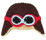 GEMVIE Gorro Beanie Disfraz Astronauta Fotografía Para Bebé Recién Nacido Crochet Marrón