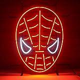 Ha Ha Chi 43,2x 35,6cm Rouge Spiderman en verre véritable Néon Lumière Signes Pour Home Shop Store Beer...