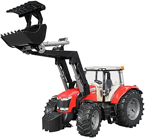 BRUDER - 03047 03047 03047 - Tracteur MASSEY FERGUSON 7600 avec Fourche - Rouge | Bien Connu Pour Sa Fine Qualité  6b3410