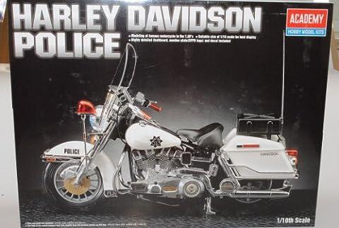 Harley Davidson Police Hancock Kit Bausatz 1/10 Academy Modell Motorrad mit individiuellem (Bausatz Harley Davidson)