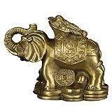 Faite à la Main Statue de crapaud monte éléphant en Laiton tronc Attirer Richesse Chanceux Feng Shui Maison Cadeau Decor...