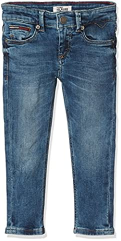 Tommy Hilfiger Scanton Slim Pmbstr, Jeans Garçon, Bleu (Protect Mid Blue Stretch 911), 98 (Taille Fabricant: 3)
