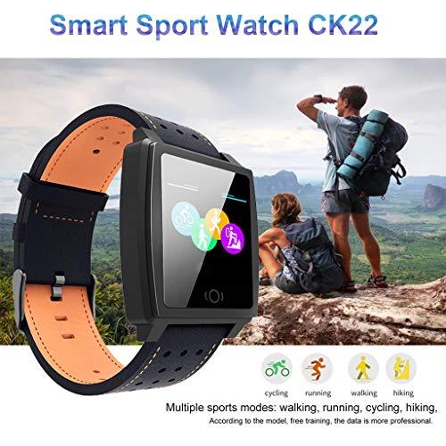 Webla Smart Watch für CK22 Smart Watch Armbanduhr zur Blutdrucküberwachung, Alloy + Skin -