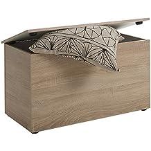 FMD Möbel 651-002 asiento Hocki 2, aproximadamente 80 x 44,9 x 40 cm, madera de roble