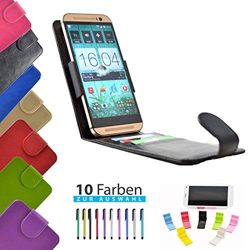 4 in 1 set ikracase Slide Flip Hülle für HiSense HS-U970E-8 Smartphone Tasche Case Cover Schutzhülle Smartphone Etui in Schwarz