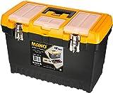 Mano-Jmt 19 Zoll Extra Tiefe Jumbo Super Strong Werkzeugkoffer mit Herausnehmbaren Organizer, Untersetzer Und Deckel