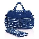 Slimbridge Melrose bébé sac fourre-tout avec matelas à langer, Bleu
